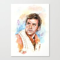 Poe Dameron Canvas Print