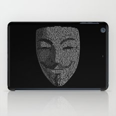 ...You May Call Me 'V' – So who's Anonymous? iPad Case