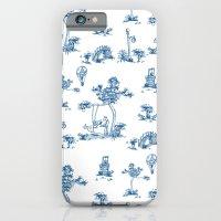 Blue Toile Unicorn iPhone 6 Slim Case