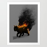 This Cat Is On Fire! Art Print