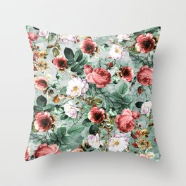 Throw Pillow - Rpe Seamless Floral Pattern I - RIZA PEKER