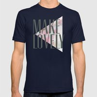 Make Lovely // Stone Mens Fitted Tee Navy SMALL