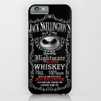 iPhone Cases featuring Halloween Parody Nightmare Blood jack skellington Whiskey by Three Second