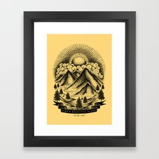 FIND A BEAUTIFUL PLACE TO GET LOST (Yellow) Framed Art Print
