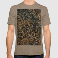 Beach Shell Sand  Mens Fitted Tee Tri-Coffee SMALL