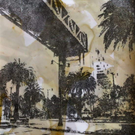 The Embarcadero on mylar  Art Print