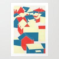 Icelandic houses Art Print
