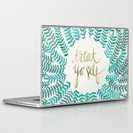 Treat Yo Self – Gold &… Laptop & iPad Skin