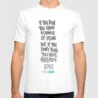 RUN Mens Fitted Tee White SMALL