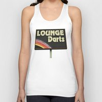 Lounge Darts Sign Unisex Tank Top