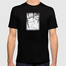 THE ENCOUNTER Black SMALL Mens Fitted Tee