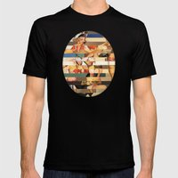 Glitch Pin-Up Redux: Olivia Mens Fitted Tee Black SMALL