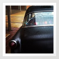A Car That Says Who Care… Art Print