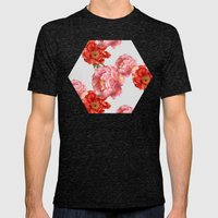Vintage Floral Mens Fitted Tee Tri-Black SMALL