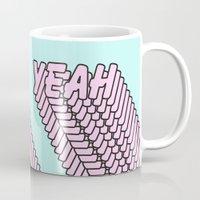 YEAH Typography Pink Blue Mug