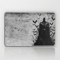 The night rises B&W Laptop & iPad Skin