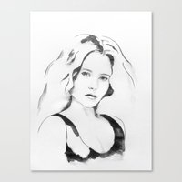 portret N89 Canvas Print