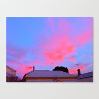 Sunset Over J St Canvas Print