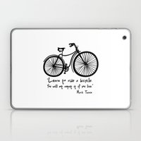 Learn To Ride A Bicycle.… Laptop & iPad Skin