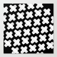 Black Xxx Canvas Print