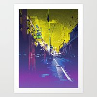 """""""often takes place along sections of road where there is no planned scheme"""" Art Print"""