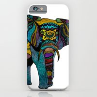 iPhone Cases featuring Elephant of Namibia by Pom Graphic Design