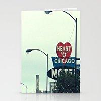 Heart 'O' Chicago Motel … Stationery Cards