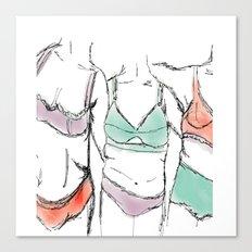 3 women 3 bodies 3lives  Canvas Print