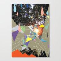 sun shining through forrest Canvas Print