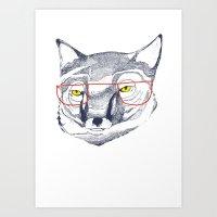 Mr Fox Art Print