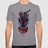 BLOOMING YOGA Mens Fitted Tee Athletic Grey SMALL