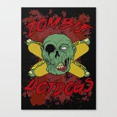 zombie hotdogs part deux Canvas Print