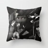 Shrinking Violet Throw Pillow