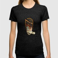 Welcome In 2012 Womens Fitted Tee Tri-Black SMALL