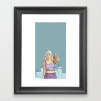 She's got fish! Framed Art Print
