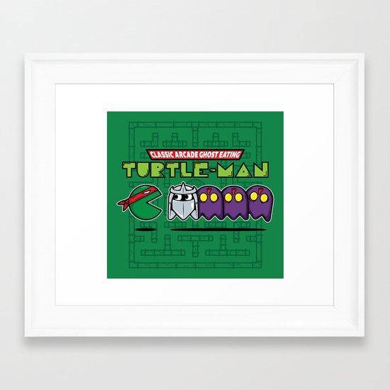 Hero in a Pac-Shell (Raph) Framed Art Print