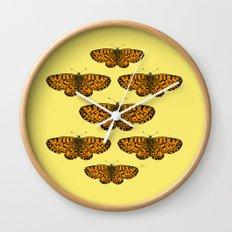 Butterfly Print Wall Clock