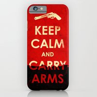 iPhone & iPod Case featuring Keep Calm And Carry Arms? by Leon Greiner