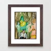 Golden Shower Framed Art Print