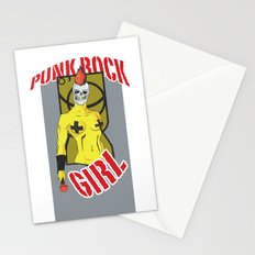 Punk rock Girl Stationery Cards