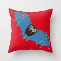 The Bat! Throw Pillow