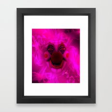 Cotton Candy Clown Framed Art Print