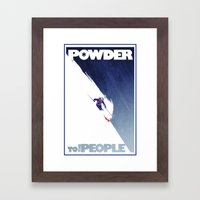Powder to the people Framed Art Print