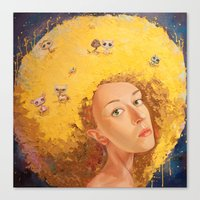 Yellow Selfportrait  Canvas Print