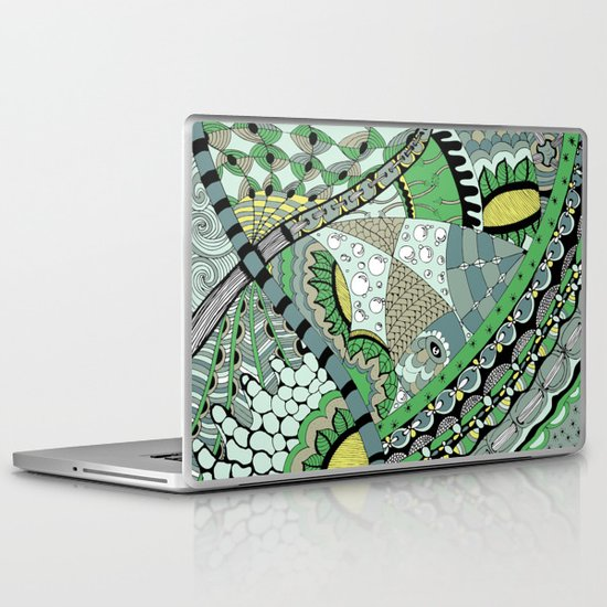 The fish who dreamed of sunflowers and buttons Laptop & iPad Skin
