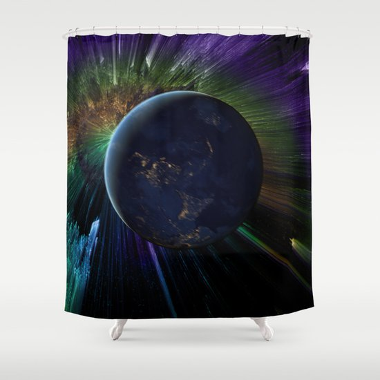 ... Sun (But It's Sinking) Shower Curtain by Shipwreck Moon Designs