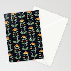 Bud'n Bloom (deep blue) Stationery Cards