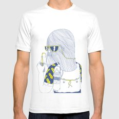 Summer Monster SMALL Mens Fitted Tee White