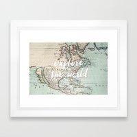 explore the world Framed Art Print