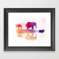 Watercolor Wildlife Framed Art Print